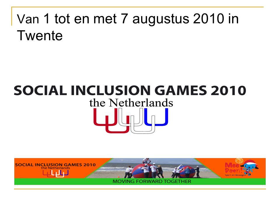 Van 1 tot en met 7 augustus 2010 in Twente