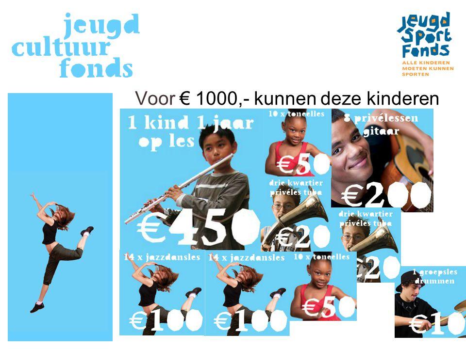 Voor € 1000,- kunnen deze kinderen