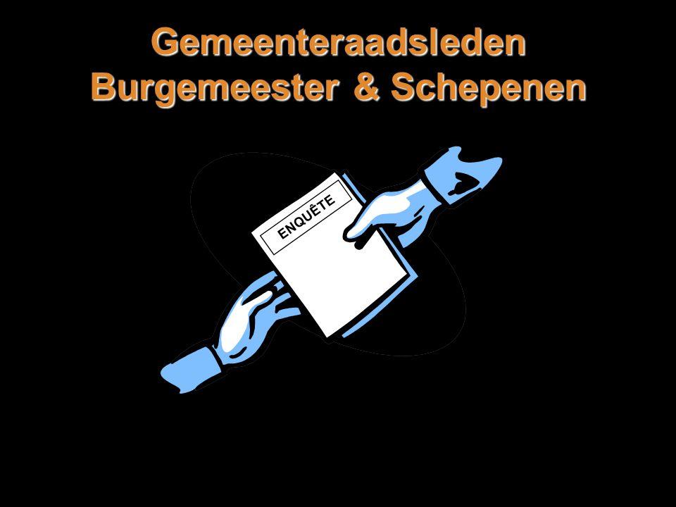 Gemeenteraadsleden Burgemeester & Schepenen ENQUÊTE