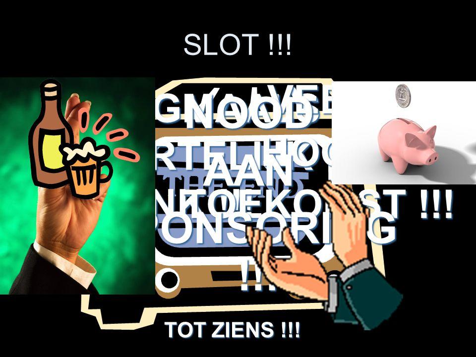 SLOT !!.NOGMAALS HARTELIJK DANK !!. NOGMAALS HARTELIJK DANK !!.