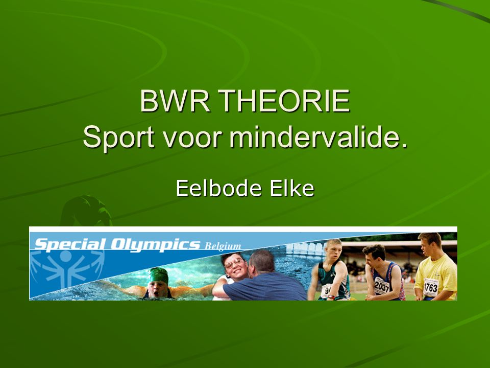 3.Gehandicaptensport 3.1. Terminologie 3.1.