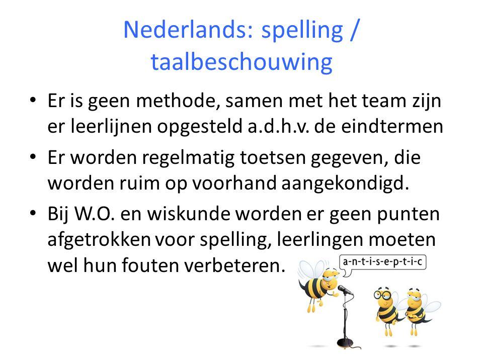 Nederlands: creatief schrijven Opdrachten sluiten zoveel mogelijk aan bij de thema's.