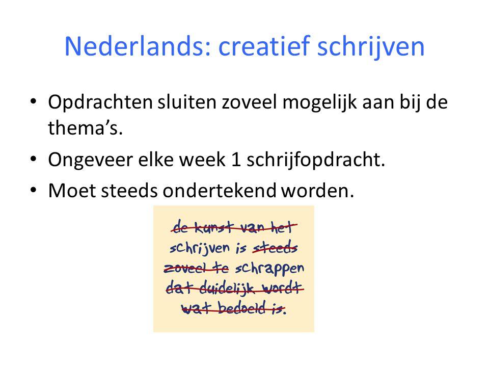Nederlands: Luisteren Zo vaak mogelijk binnen het thema.