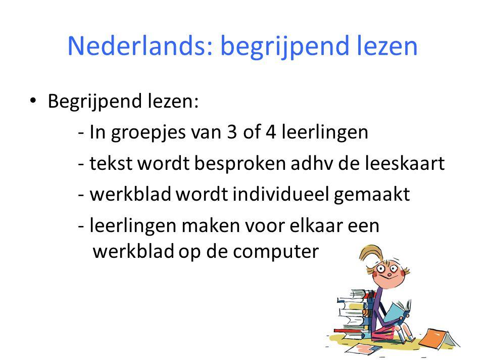 Nederlands: technisch lezen (avi) Leerlingen moeten avi 9 hebben.