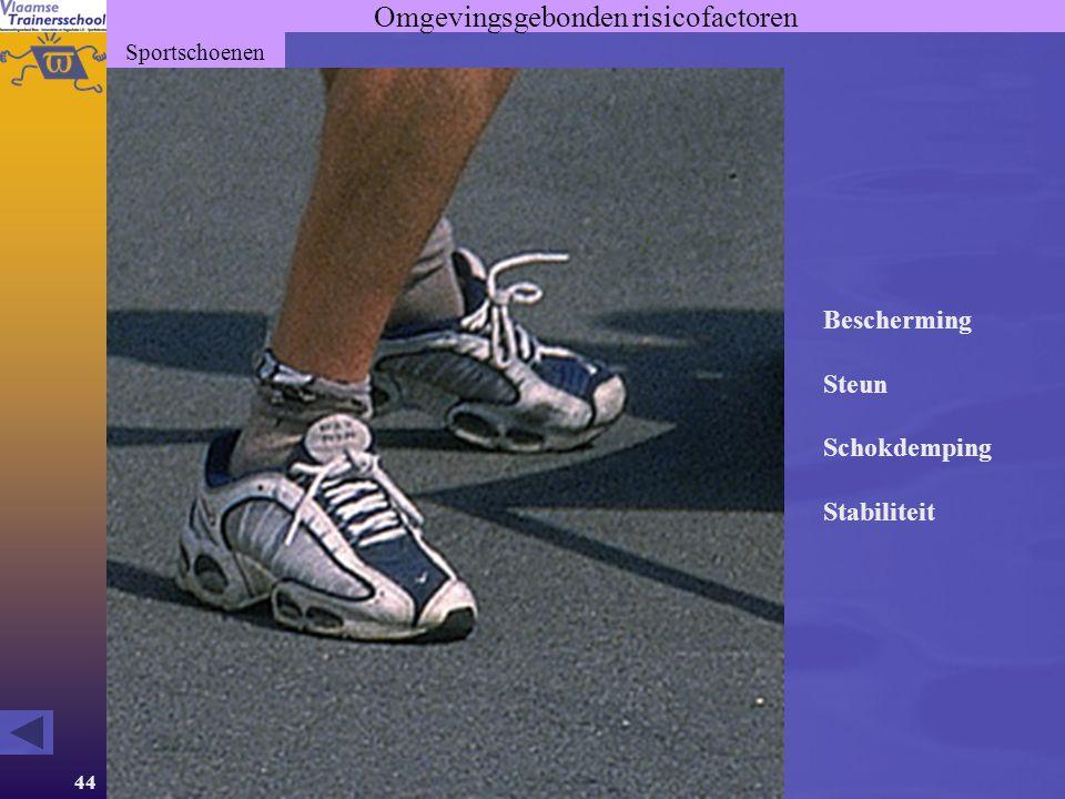 44 Omgevingsgebonden risicofactoren Sportschoenen Bescherming Steun Schokdemping Stabiliteit
