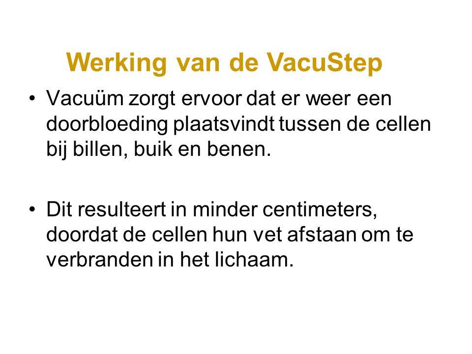 Vacuüm zorgt ervoor dat er weer een doorbloeding plaatsvindt tussen de cellen bij billen, buik en benen. Dit resulteert in minder centimeters, doordat