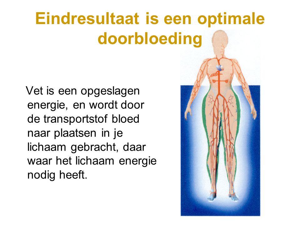 Vet is een opgeslagen energie, en wordt door de transportstof bloed naar plaatsen in je lichaam gebracht, daar waar het lichaam energie nodig heeft. E