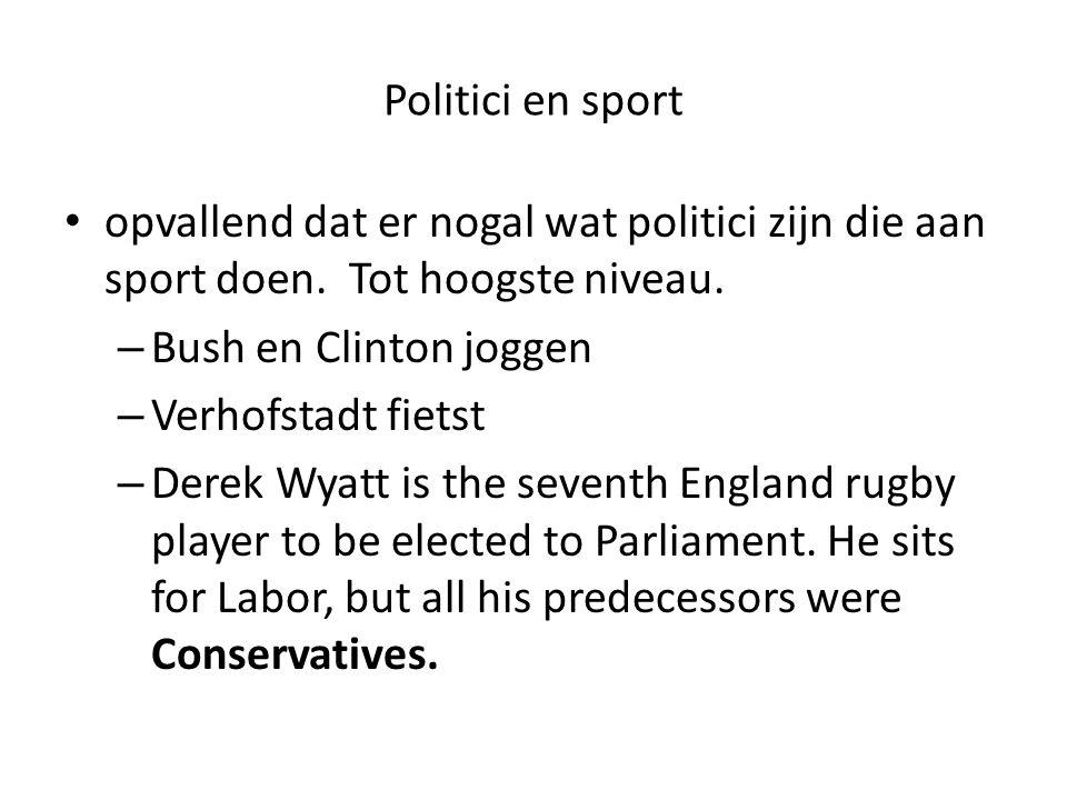 Politici en sport Waarom doen we het.Haantjesgedrag De dynamiek van de pauwenveren.