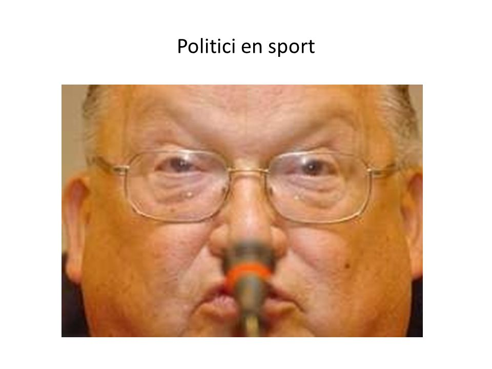Politici en sport
