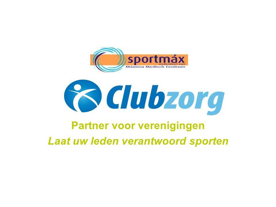 Partner voor verenigingen Laat uw leden verantwoord sporten