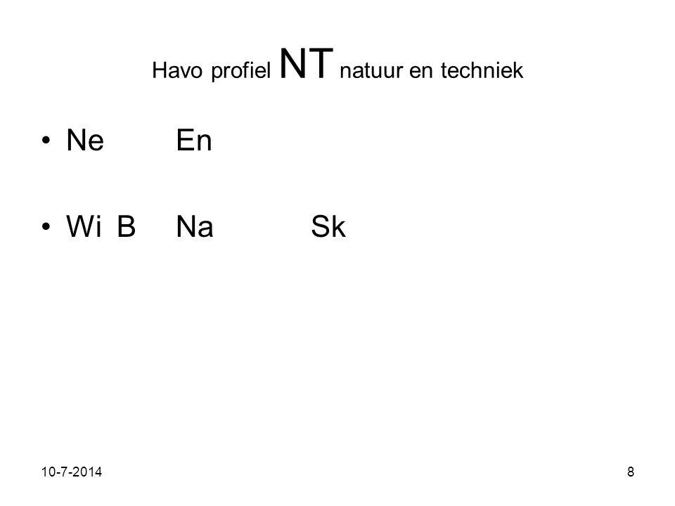 11-7-20148 Havo profiel NT natuur en techniek NeEn Wi BNaSk