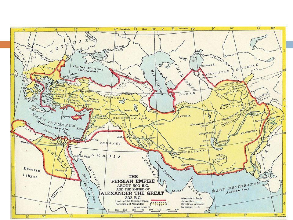 Verdediging tegen de Perzen Oorlog tegen elkaar maar ook tegen de Perzen, die in de 6 e eeuw een groot rijk bezetten.