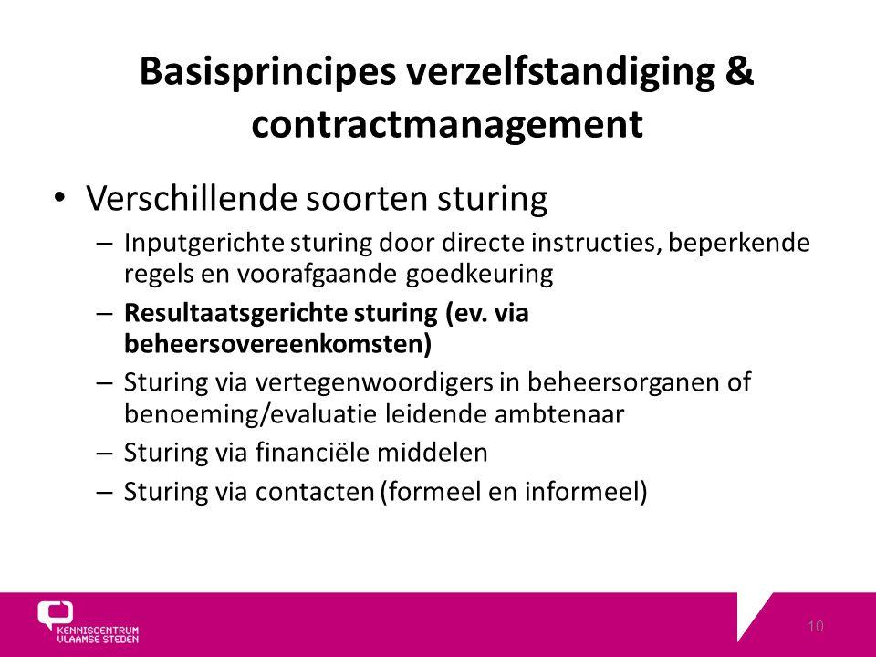 10 Verschillende soorten sturing – Inputgerichte sturing door directe instructies, beperkende regels en voorafgaande goedkeuring – Resultaatsgerichte sturing (ev.
