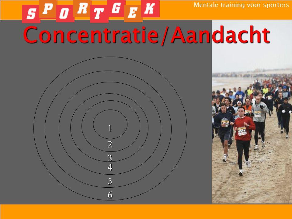Mentale training voor sporters Concentratie/Aandacht1 2 3 4 5 6