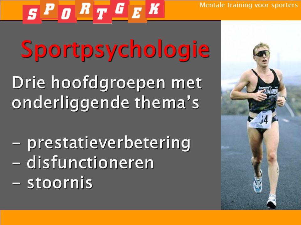 Mentale training voor sporters - eetstoornis - angststoornis - persoonlijkheidsstoornis - stoornis van impulsbeheersing - depressie - verslaving Stoornis