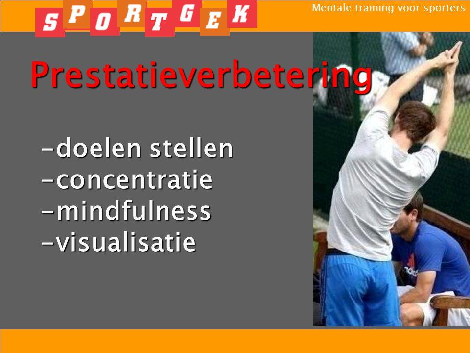 Mentale training voor sporters Motivatie Zelfvertrouwen Wedstrijdspanning Concentratie Mentale training Het Fundament