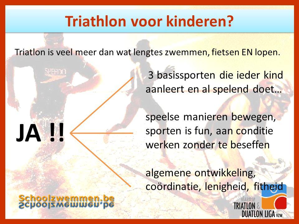 Triathlon voor kinderen.