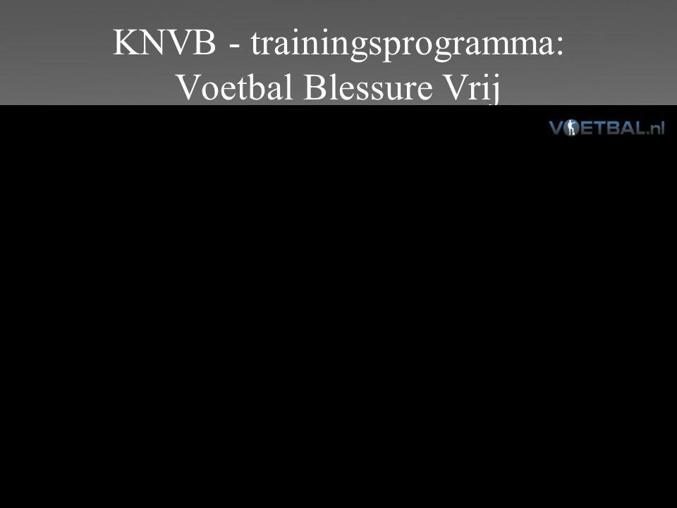 KNVB - trainingsprogramma: Voetbal Blessure Vrij