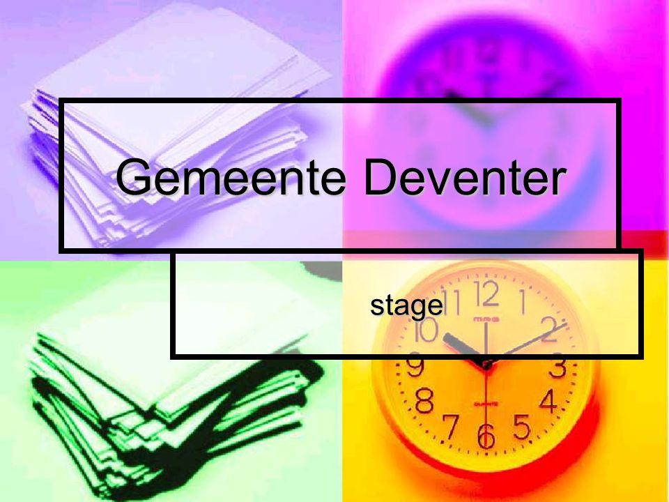 Gemeente Deventer stage