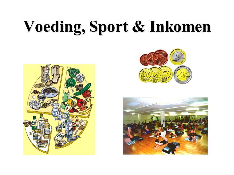 Voeding, Sport && && Inkomen