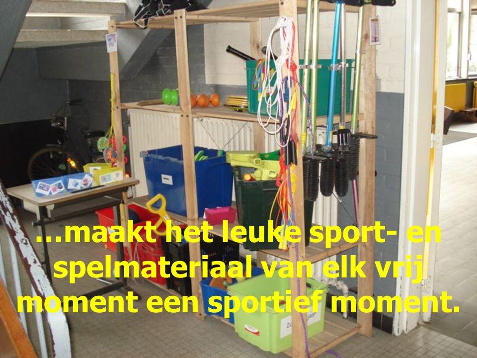 In deze school is gezondheid en dus ook sport een belangrijk gegeven.