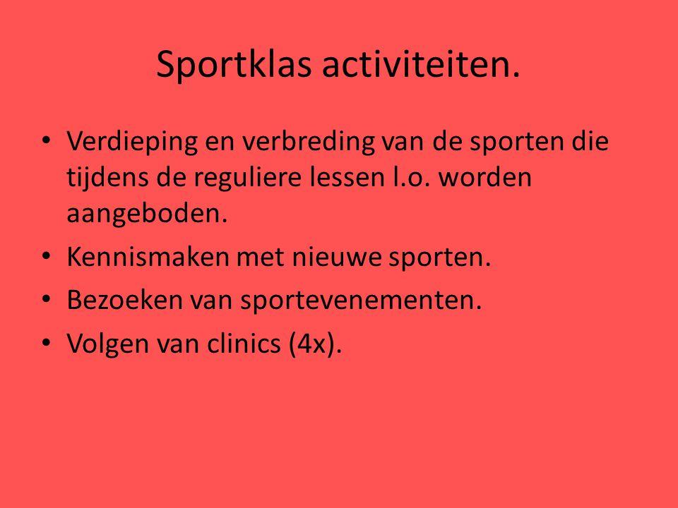 Sportklas activiteiten.