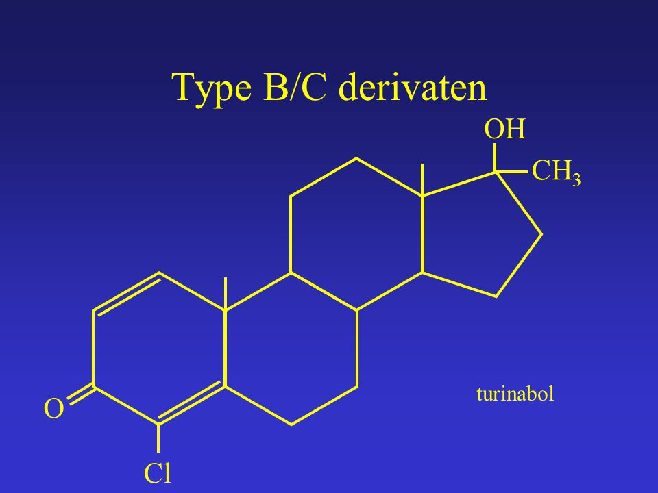 Type B/C derivaten O OH CH 3 turinabol Cl