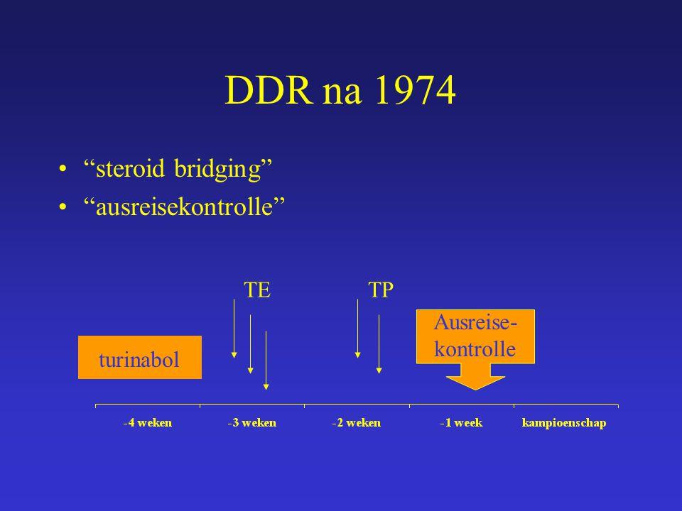 "DDR na 1974 ""steroid bridging"" ""ausreisekontrolle"" turinabol TETP Ausreise- kontrolle"