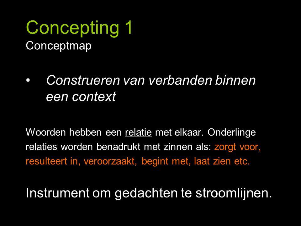 Construeren van verbanden binnen een context Woorden hebben een relatie met elkaar. Onderlinge relaties worden benadrukt met zinnen als: zorgt voor, r