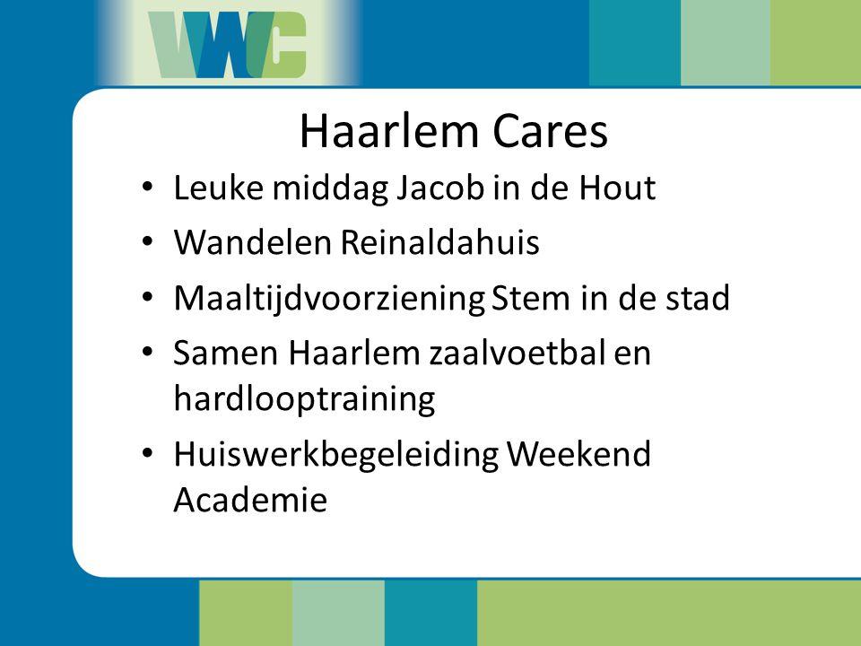 Haarlem Cares Leuke middag Jacob in de Hout Wandelen Reinaldahuis Maaltijdvoorziening Stem in de stad Samen Haarlem zaalvoetbal en hardlooptraining Hu