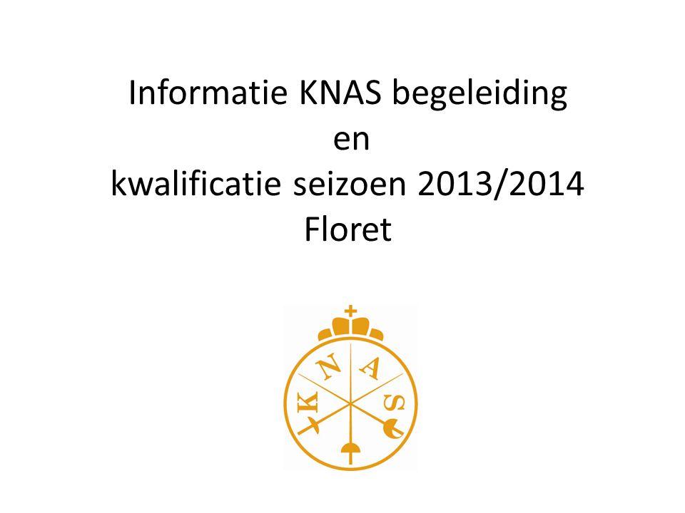 Informatie KNAS begeleiding en kwalificatie seizoen 2013/2014 Floret