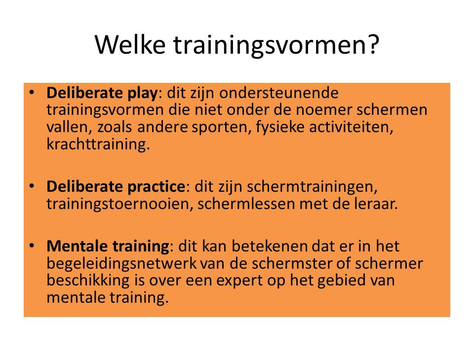 Welke trainingsvormen.
