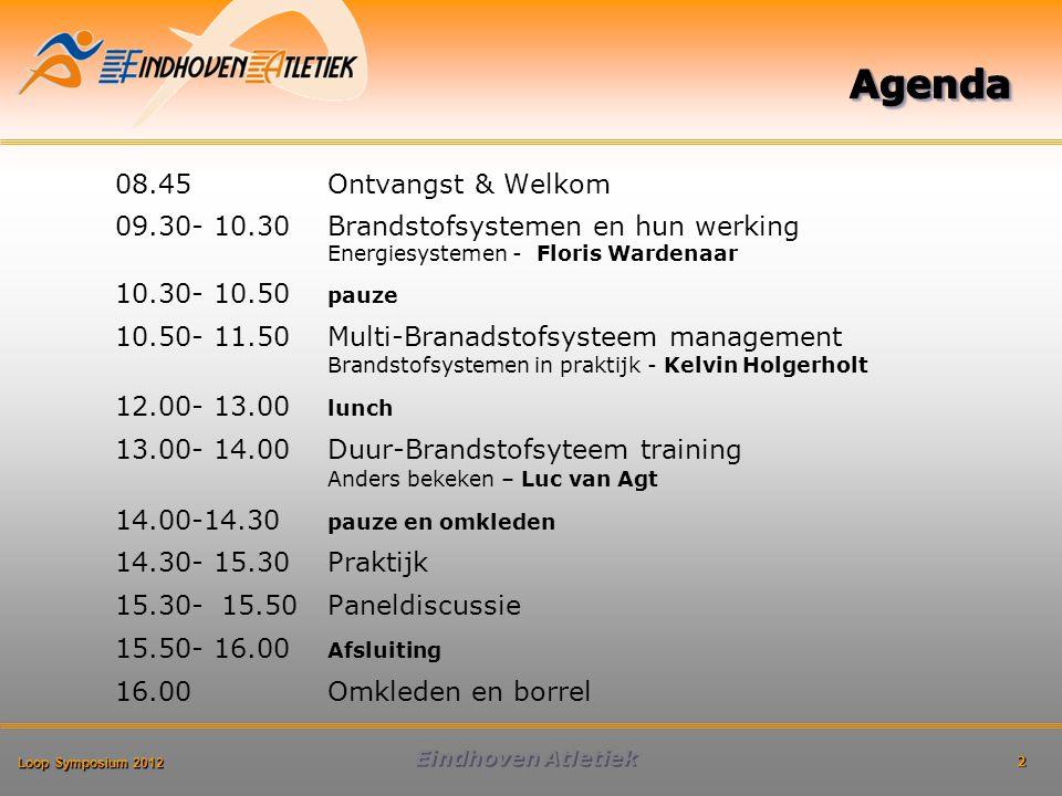 Loop Symposium 2012 Eindhoven Atletiek Aanwezig: –Vetweefsel –Vrije vetzuren –Intramusculair triglyceriden –Leverglycogeen –Spierglycogeen
