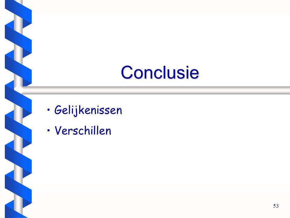 53 Conclusie Gelijkenissen Verschillen