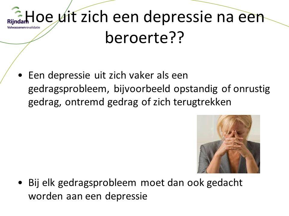 Hoe uit zich een depressie na een beroerte?.
