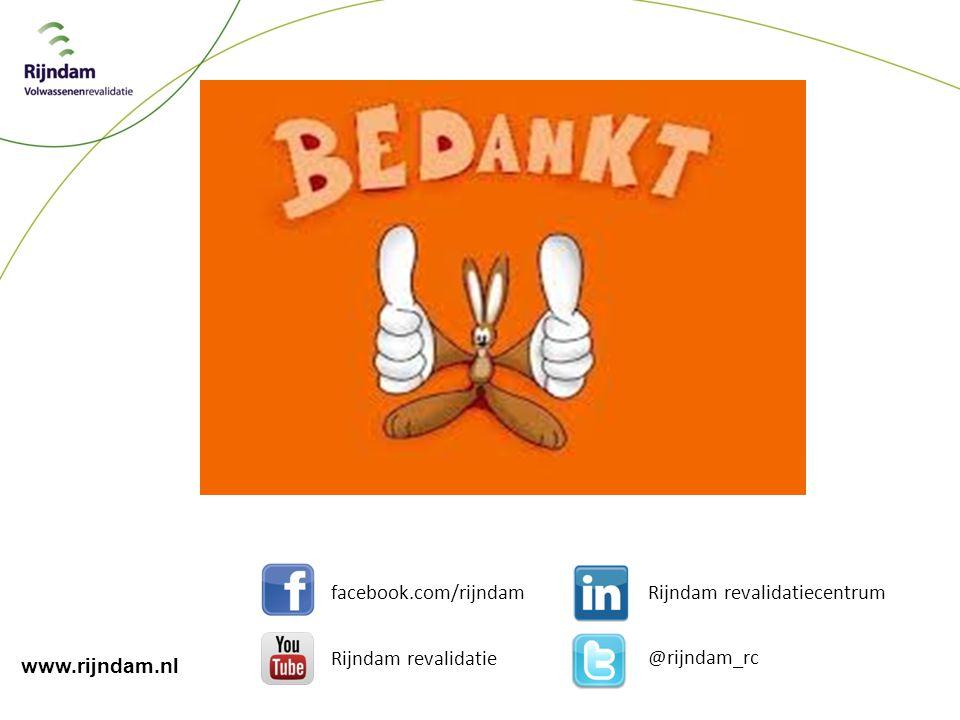 @rijndam_rc facebook.com/rijndam Rijndam revalidatie Rijndam revalidatiecentrum www.rijndam.nl