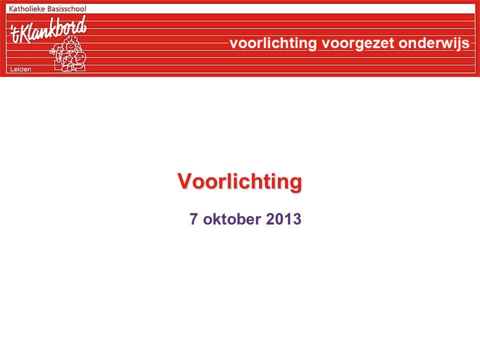 Voorlichting 7 oktober 2013