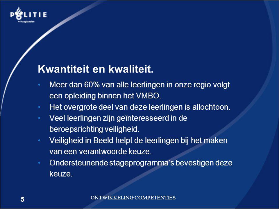 6 ONTWIKKELING COMPETENTIES De instroomdoelstelling voor 2012 is vastgesteld op 1953 nieuwe operationele medewerkers.