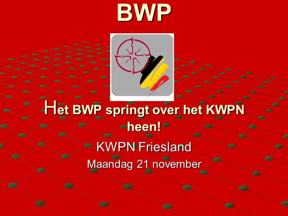 Programma 1.BWP in cijfers 2. Positie BWP 3. Hengstenselectie KWPN - BWP 4.