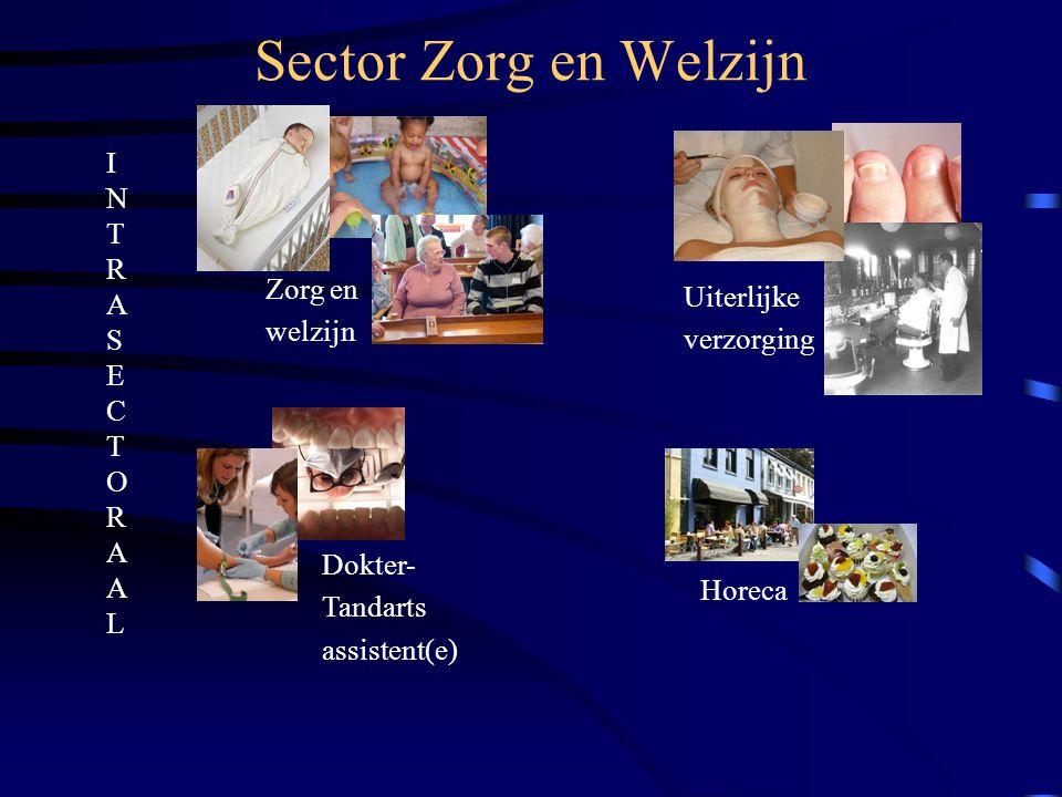 Sector Zorg en Welzijn Zorg en welzijn Uiterlijke verzorging Dokter- Tandarts assistent(e) Horeca INTRASECTORAALINTRASECTORAAL