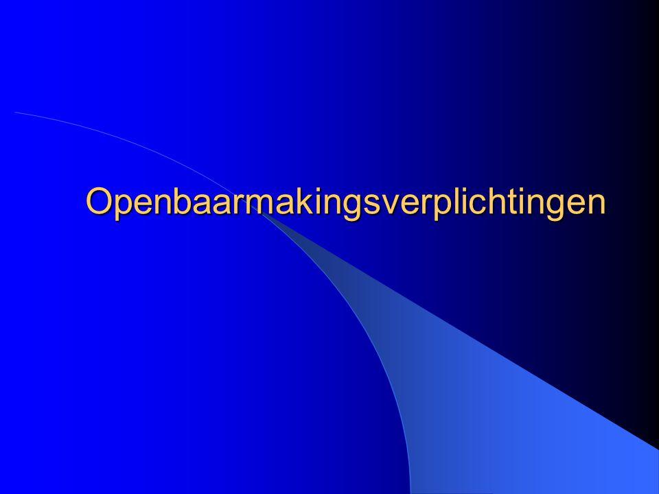 M.Denef & G. Vanden Abeele Openbaarmaking: wettelijk kader de 'papierslag' K.B.