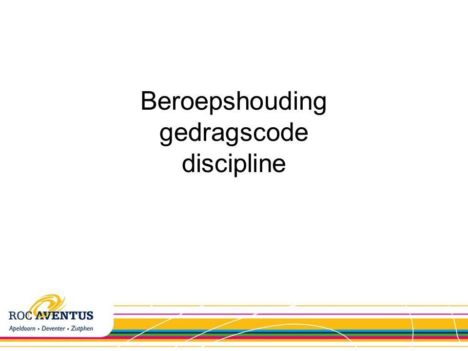 Beroepshouding gedragscode discipline
