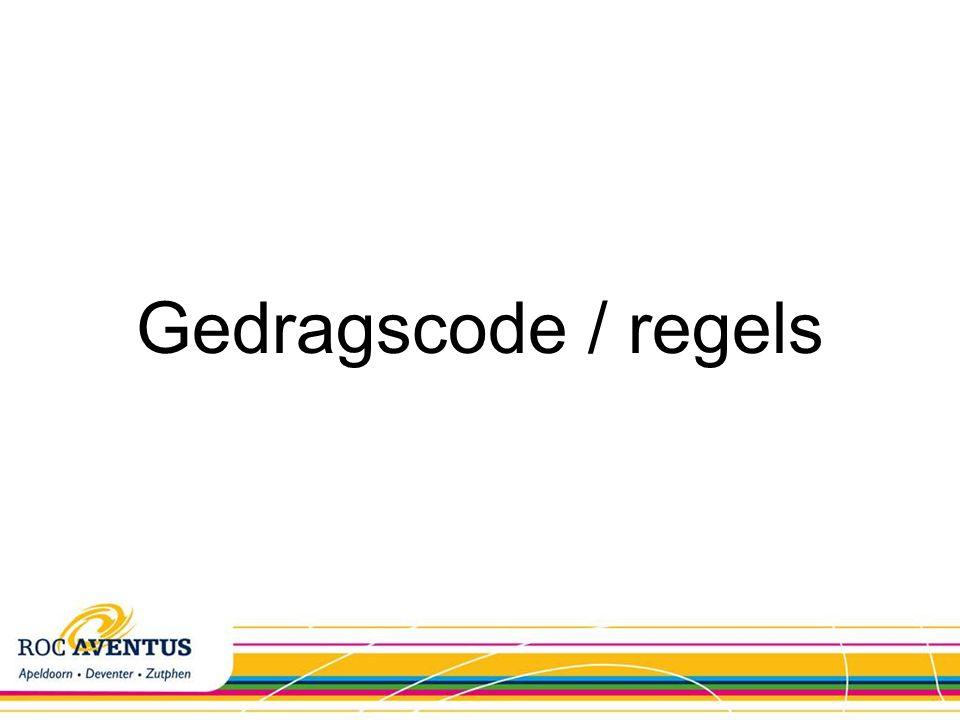 Gedragscode / regels