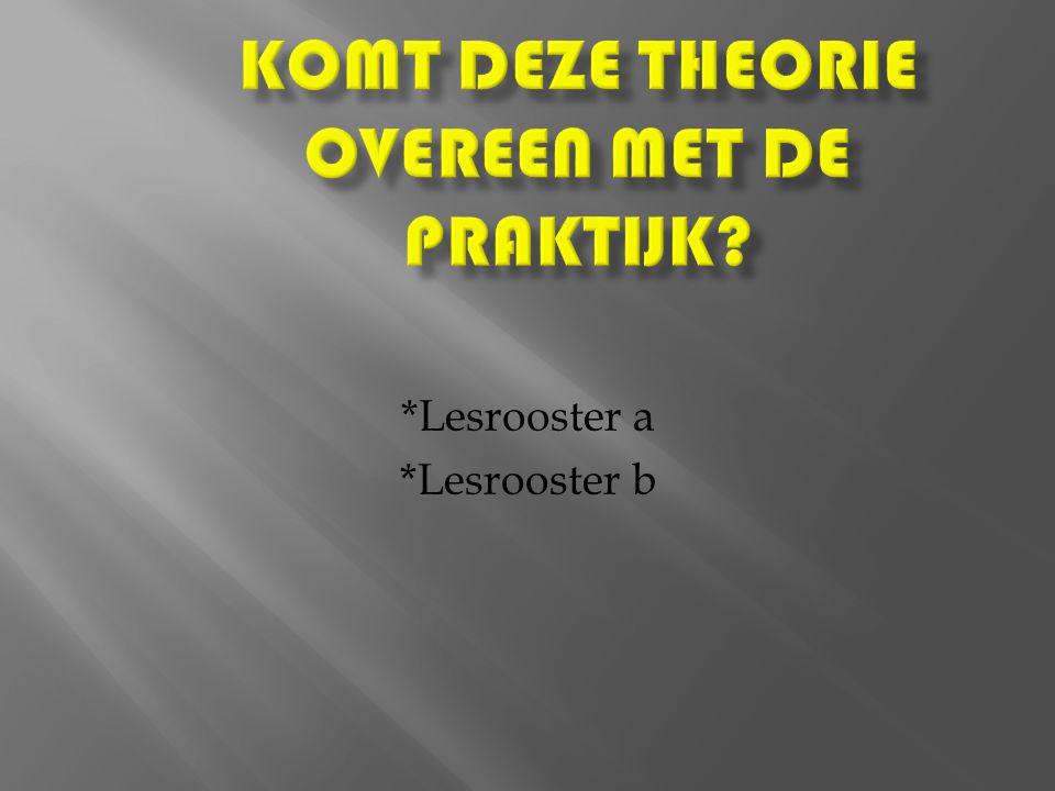 *Lesrooster a *Lesrooster b