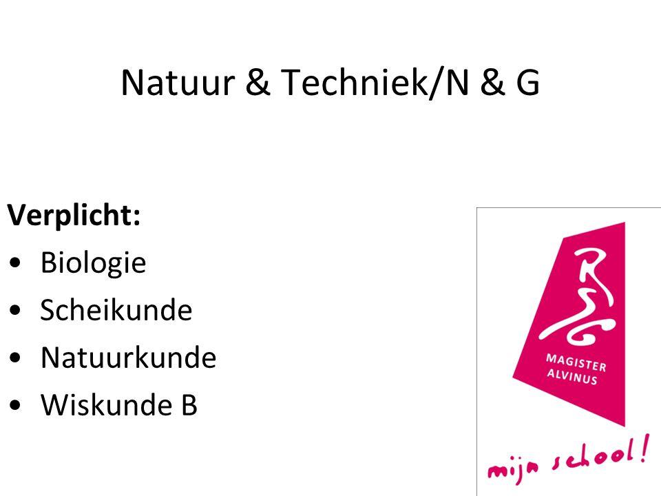 Natuur & Techniek/N & G Verplicht: Biologie Scheikunde Natuurkunde Wiskunde B