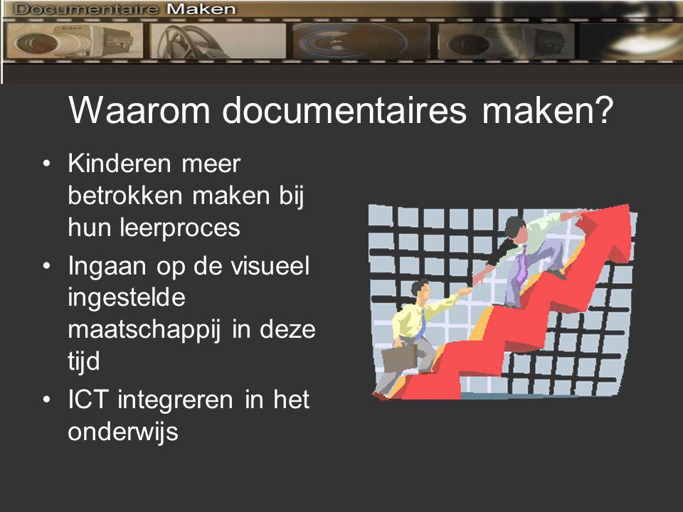 Onderzoeksvragen Hoe past het maken van documentaires binnen de visie van de school.