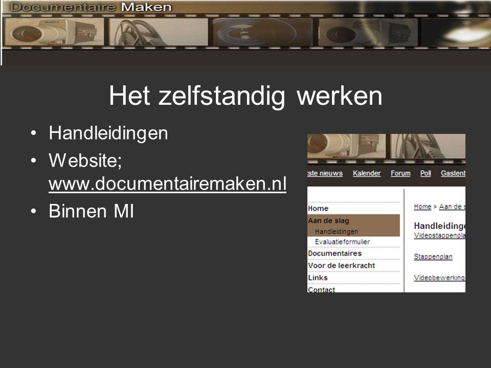 De begeleiding Tijdens MI momenten Video's op internet plaatsen Duidelijke kennisdoelen stellen (weetkaarten)