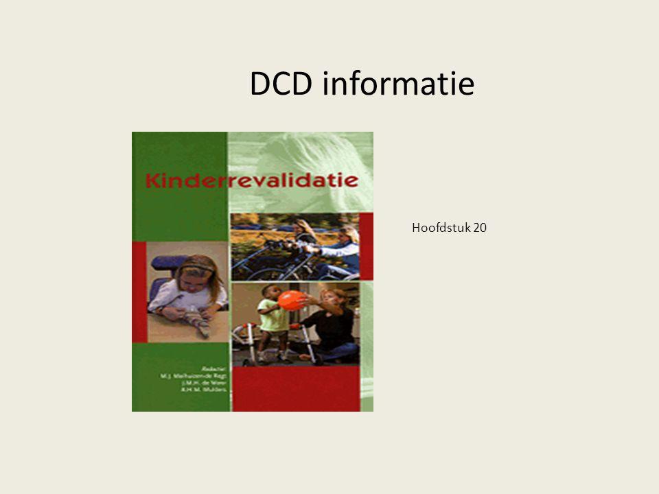 DCD informatie Hoofdstuk 20