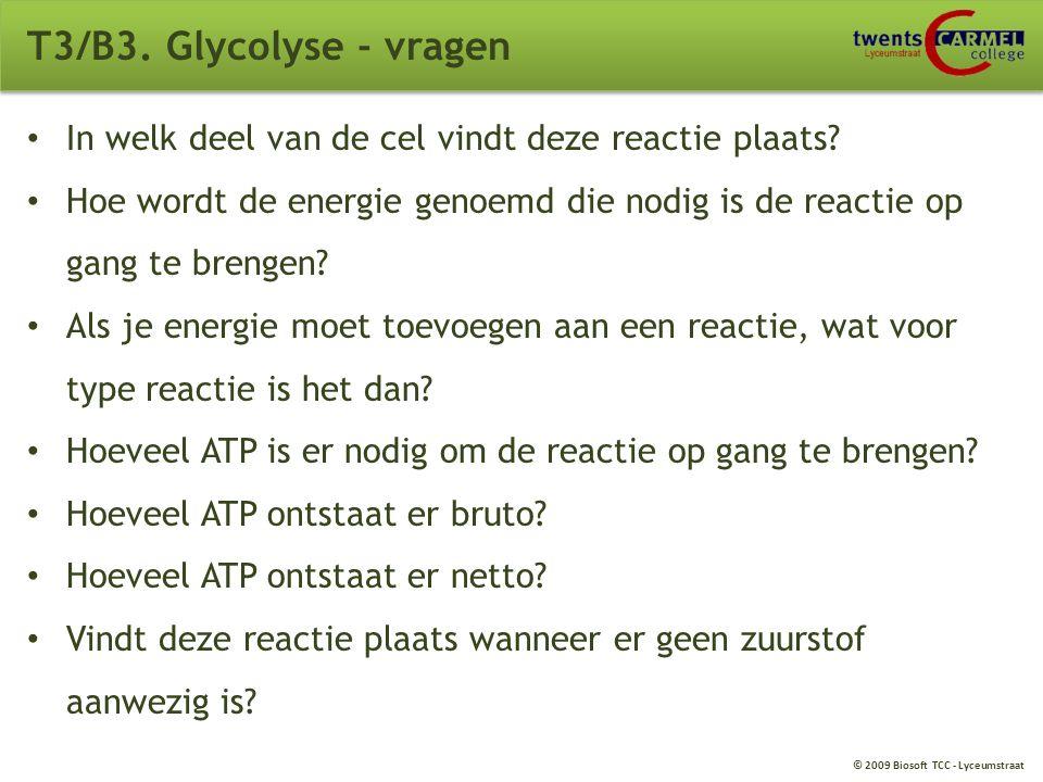 © 2009 Biosoft TCC - Lyceumstraat T3/B3. Glycolyse 68B