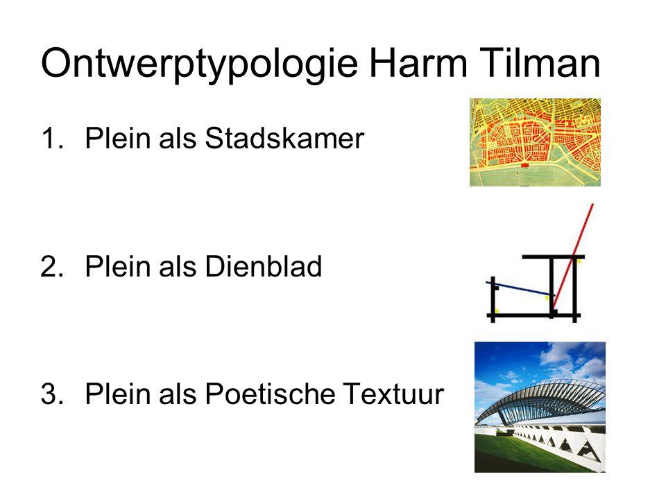 Ontwerptypologie Harm Tilman 1.Plein als Stadskamer 2.Plein als Dienblad 3.Plein als Poetische Textuur